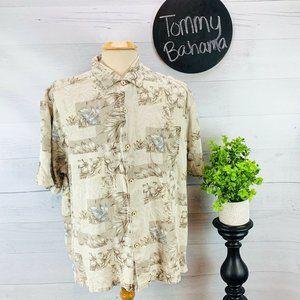 Tommy Bahama Silk Hawaiian Shirt XL